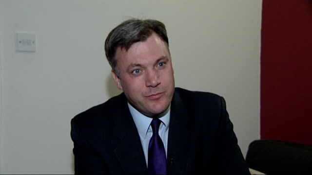 european ministers to meet for bailout talks ed balls mp interview sot it is complete scaremongering of george osborne to try to compare britain to... - ギールフォーレスト国立公園点の映像素材/bロール