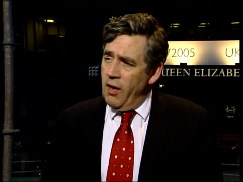 debt relief deal england london qe2 centre int gordon brown mp interview sot for first time ever in g7 communique we've talked about debt relief as... - g8 stock-videos und b-roll-filmmaterial
