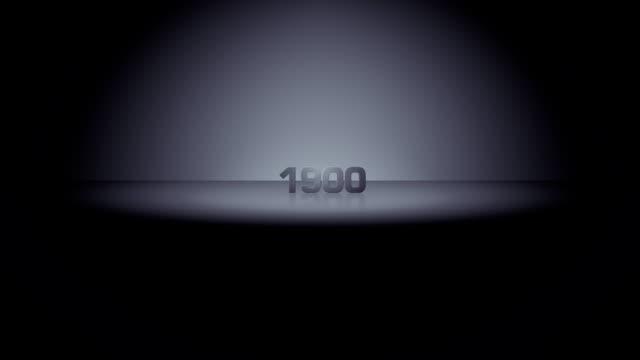 decade horizon zoom 1900 - 1900 stock videos & royalty-free footage