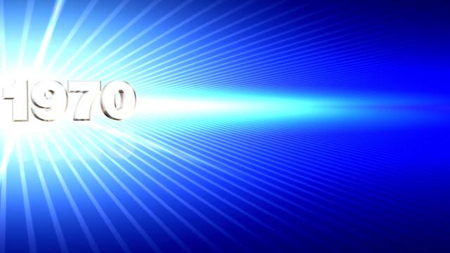 decades 1950-2040 zoom blue - 2000 2010 stil bildbanksvideor och videomaterial från bakom kulisserna