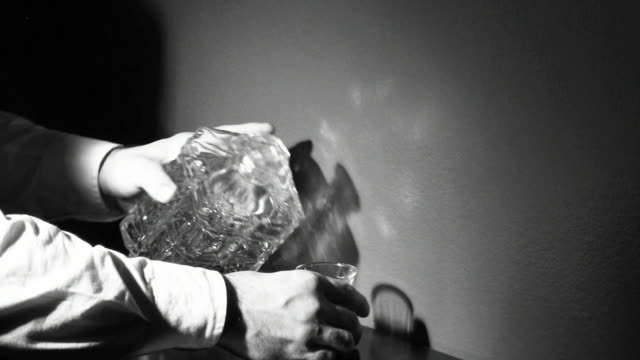 decanter shot-film noir - film noir style stock videos and b-roll footage