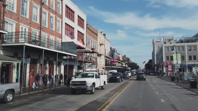 Decatur Street in Downtown New Orleans (French Quarter) in the Morning