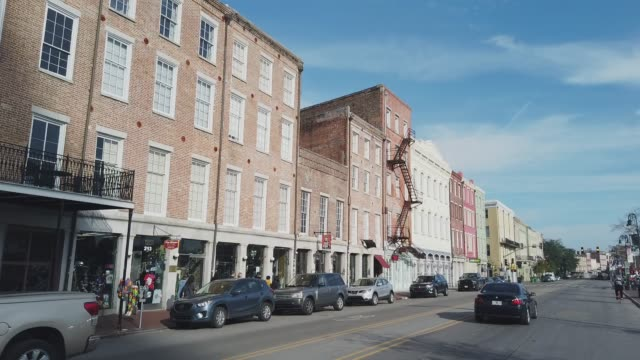 decatur street in downtown new orleans (french quarter) in the morning - new orleans stock videos & royalty-free footage