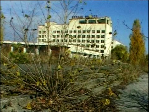 decaying buildings abandoned since chernobyl disaster prypiat ukraine - 2000年風格 個影片檔及 b 捲影像