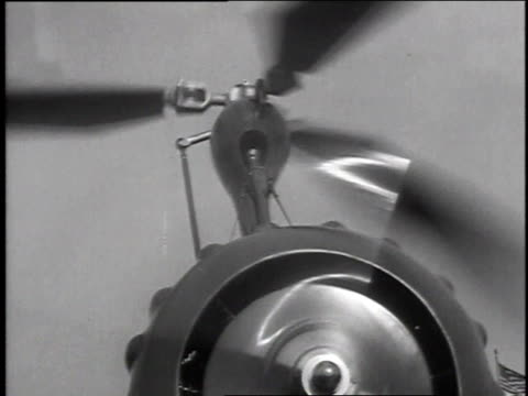 December 18 1935 MONTAGE Autogyro helicopter taking off to fly / Washington DC United States