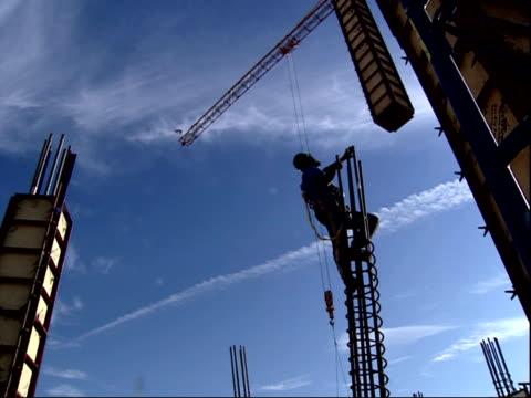 december 19, 2001 montage crane working at pentagon rebuilding / arlington, virginia, united states - the pentagon stock videos & royalty-free footage