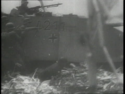 december 1944 montage tanks rolling in and firing, soldiers driving tanks / ardennes, belgium - 1944 stock videos & royalty-free footage