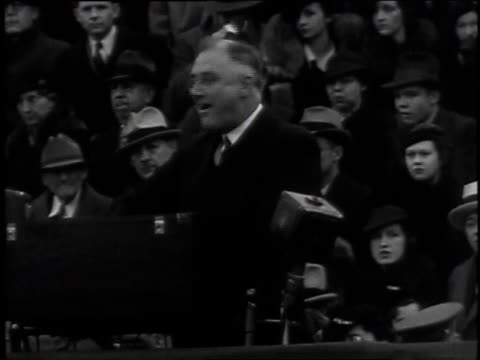 stockvideo's en b-roll-footage met december 2, 1935 roosevelt speaking about economic recovery / atlanta, georgia - 1935