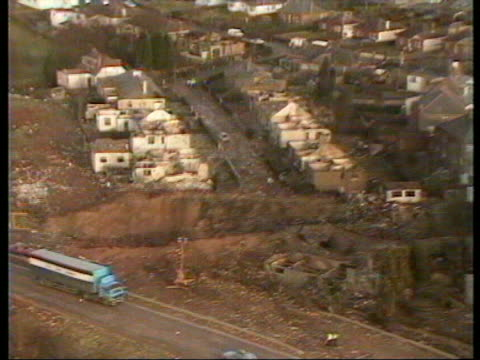 december 22 1988 film montage aerial panam flight 103 bombing wreckage on ground/ lockerbie scotland - lockerbie stock videos & royalty-free footage