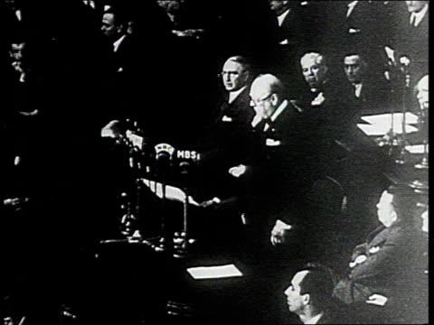 december 26 1941 ws winston churchill makes speech before us congress washington dc united states - winston churchill stock videos & royalty-free footage