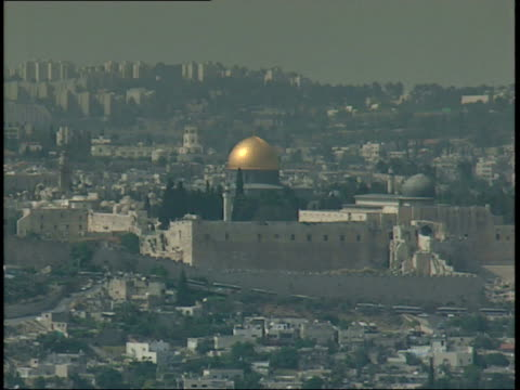 December 31 1966 ZO Dome of the Rock gleaming on the Temple Mount / Jerusalem Israel