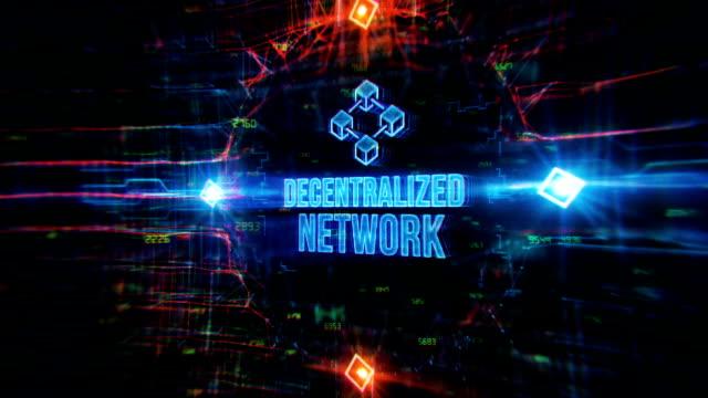 分散型ネットワークデジタル背景 - 分散点の映像素材/bロール