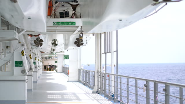 deck of cruise ship - cruise stock videos & royalty-free footage