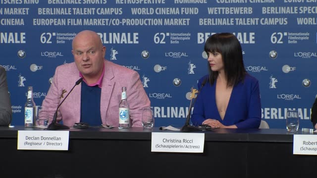 declan donnellan on working with christina ricci, filming on location at bel ami press conference: 62nd international berlin film festival 2012 at... - christina ricci stock videos & royalty-free footage