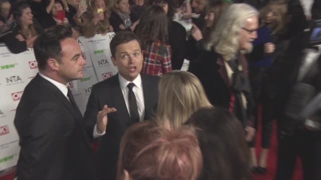 stockvideo's en b-roll-footage met declan donnelly anthony mcpartlin at national television awards 2016 on january 19 2016 in london england - ant mcpartlin