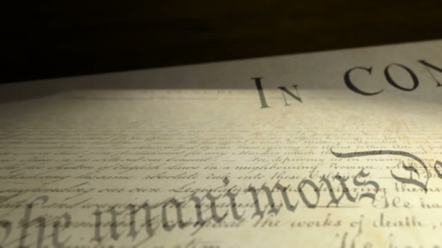 us declaration of independence multi-view: prepared - writing stock videos and b-roll footage