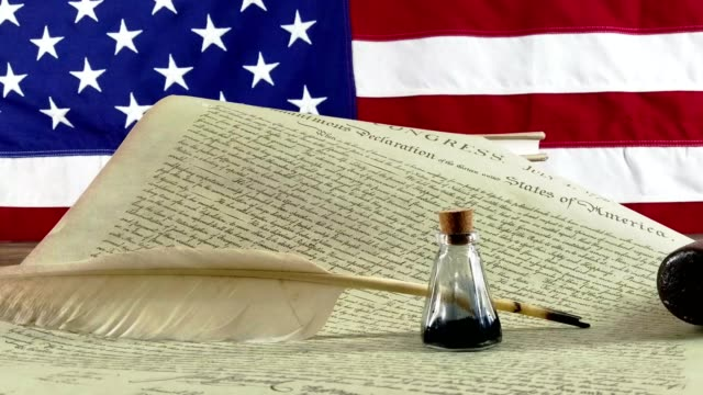 declaration of independence - usa - benjamin franklin stock videos & royalty-free footage