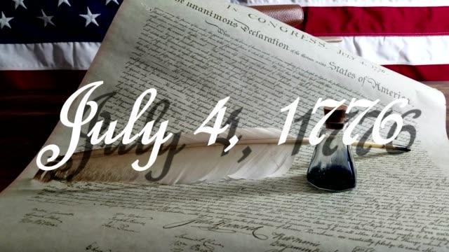 アメリカ独立宣言 - ジェームズ・マディソン点の映像素材/bロール