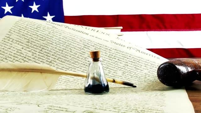 アメリカ独立宣言 - 憲法点の映像素材/bロール