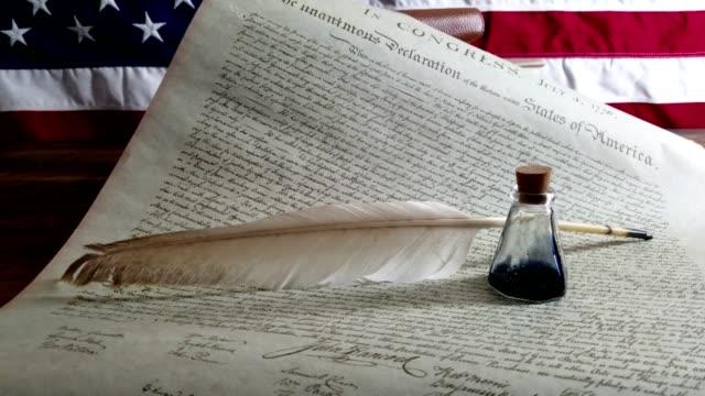 declaration of independence - usa - thomas jefferson stock videos & royalty-free footage