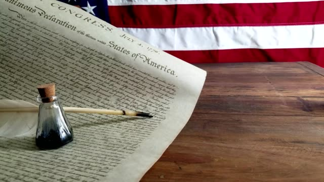 declaration of independence - usa - american revolution stock videos & royalty-free footage