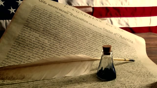 declaration of independence - usa - benjamin franklin stock videos and b-roll footage