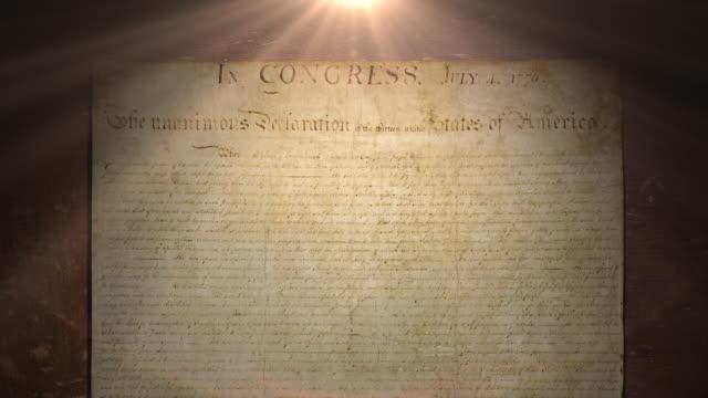 独立宣言 - アメリカ憲法点の映像素材/bロール
