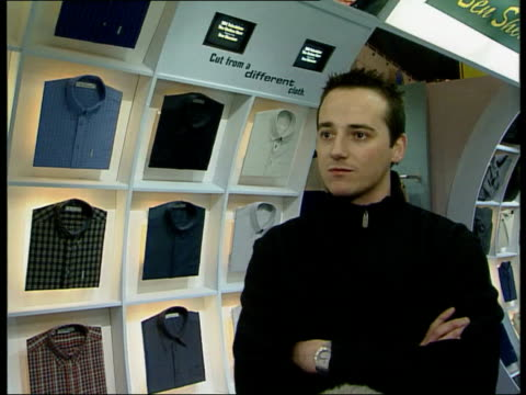 Decline of jeans Nick Gray interview SOT Talks of moves away from demin Various types of trousers other than jeans seen at streetwear trade fair Tim...