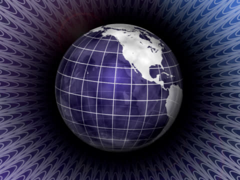stockvideo's en b-roll-footage met deco spinning globe (loop) - doorschijnend