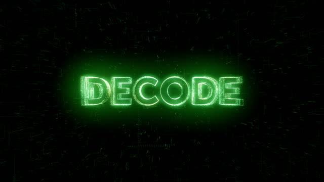 vídeos de stock e filmes b-roll de decode word animation - cubo