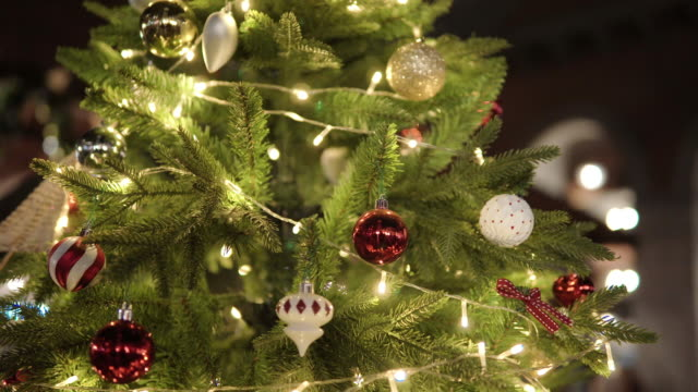 decorate the christmas tree. - hanging stock videos & royalty-free footage