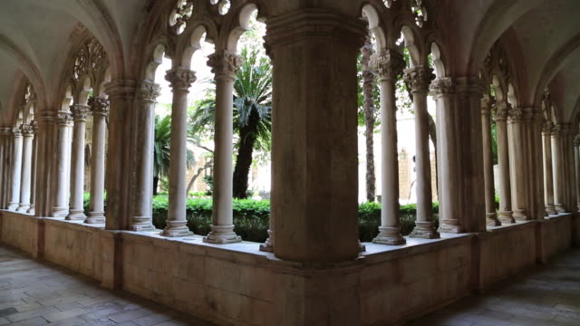 Decorated cloister in the Dominican monastery, Dubrovnik