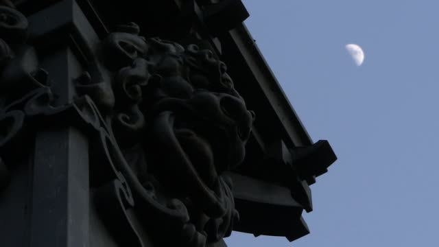Decorated Column Of Nihonbashi In Twilight, Tokyo, Japan