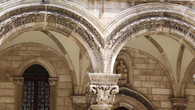 Decorated portico in the Rectoc's Palace, Dubrovnik