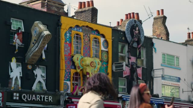 decorated shop frontages, camden high street - alternative lifestyle stock videos & royalty-free footage