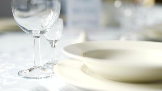 Decorated table for luxury, elegant dinner, Dinner Romance Background