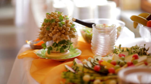 decorated table wedding - caterer stock videos and b-roll footage