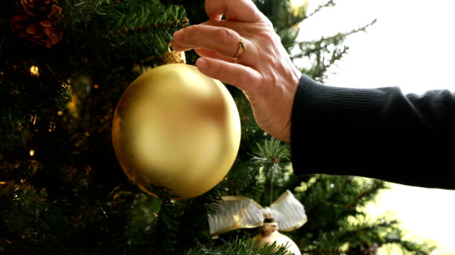decorating christmas tree - christmas decoration stock videos and b-roll footage