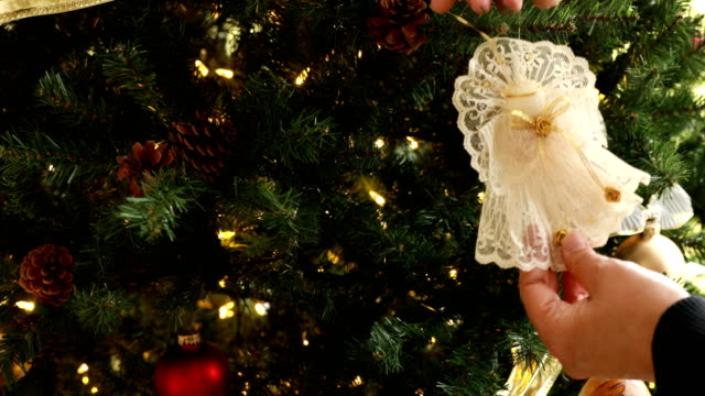 decorating christmas tree - angel stock videos & royalty-free footage