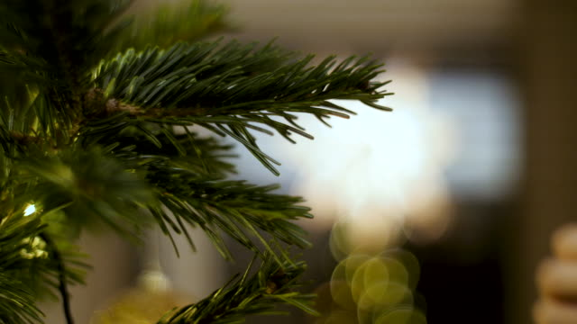 decorating christmas tree - christmas bauble stock videos & royalty-free footage