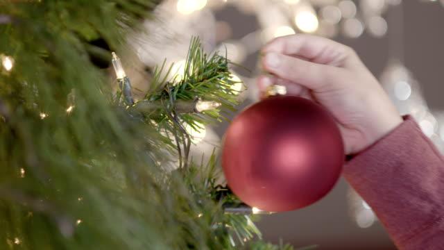 stockvideo's en b-roll-footage met versieren kerstboom - kokerworm