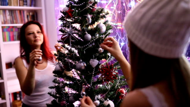 decorating christmas tree - fir tree stock videos and b-roll footage