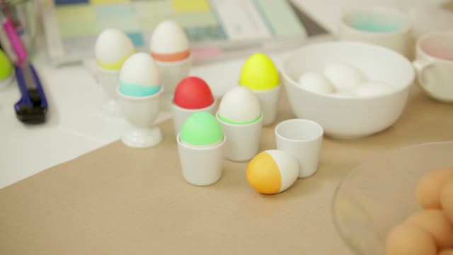 decorating easter eggs - decoration stock videos & royalty-free footage