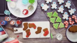 Decorating gingerbread and sugar cookies