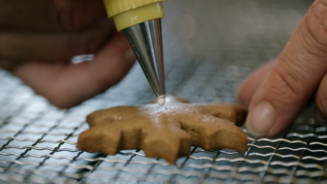 Decorating Gingerbread Cookies with Icing
