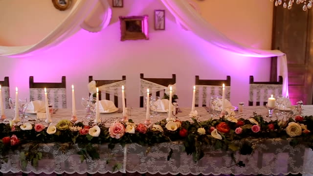decoration on the wedding party - rustic stock videos & royalty-free footage