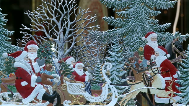 ms decoration with santa claus / rothenburg o.d. tauber, bavaria, germany - rothenburg stock videos and b-roll footage