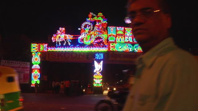 WS Decorations on eve of Janmashtami (Lord Krishna's birthday celebration) / Delhi, India