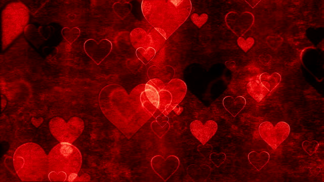 decorative background with hearts loop - valentines background stock videos & royalty-free footage