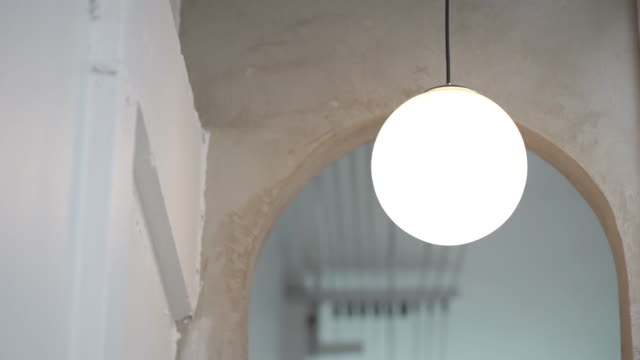 decorative lighting in the cafe - home showcase interior stock videos & royalty-free footage